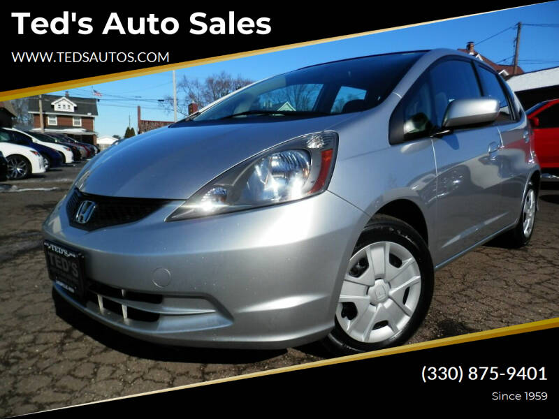 2013 Honda Fit for sale at Ted's Auto Sales in Louisville OH