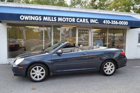 2008 Chrysler Sebring for sale at Owings Mills Motor Cars in Owings Mills MD