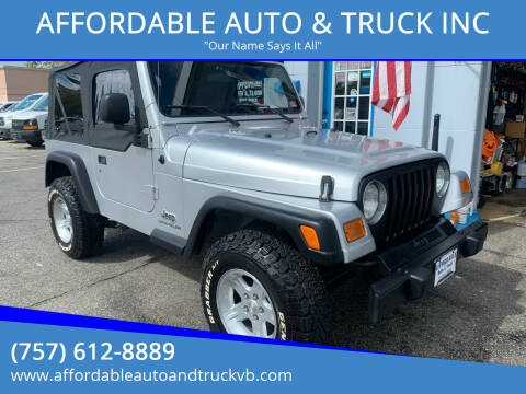 2006 Jeep Wrangler for sale at AFFORDABLE AUTO & TRUCK INC in Virginia Beach VA