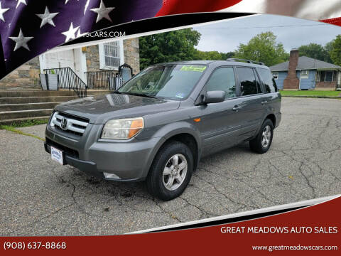 2007 Honda Pilot for sale at GREAT MEADOWS AUTO SALES in Great Meadows NJ