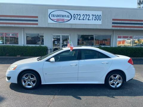 2010 Pontiac G6 for sale at Traditional Autos in Dallas TX