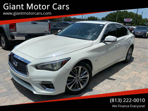 2018 Infiniti Q50 for sale at Giant Motor Cars in Tampa FL
