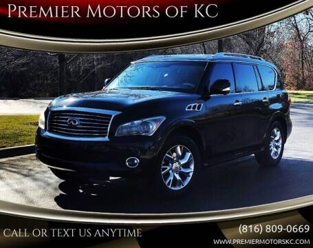 2012 Infiniti QX56 for sale at Premier Motors of KC in Kansas City MO