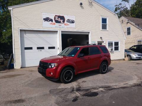 2010 Ford Escape for sale at E & K Automotive in Derry NH