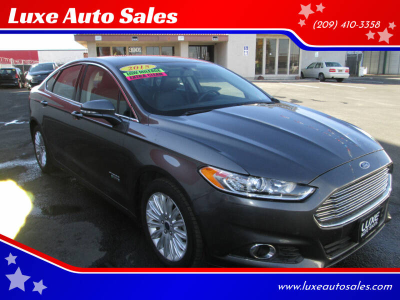 2015 Ford Fusion Energi for sale at Luxe Auto Sales - Clean Air Qualified Vehicles in Modesto CA