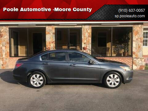 2010 Honda Accord for sale at Poole Automotive in Laurinburg NC