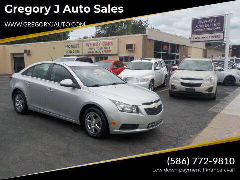 2012 Chevrolet Cruze for sale at Gregory J Auto Sales in Roseville MI