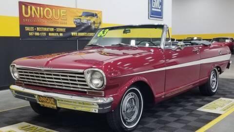 1963 Chevrolet Nova for sale at UNIQUE SPECIALTY & CLASSICS in Mankato MN