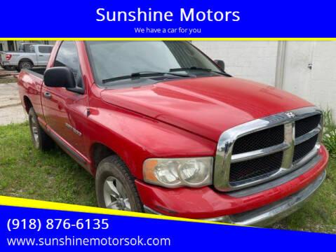 2005 Dodge Ram Pickup 1500 for sale at Sunshine Motors in Bartlesville OK