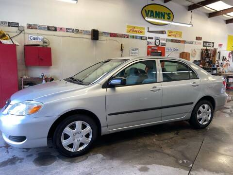 2006 Toyota Corolla for sale at Vanns Auto Sales in Goldsboro NC