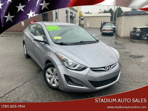 2016 Hyundai Elantra for sale at Stadium Auto Sales in Everett MA