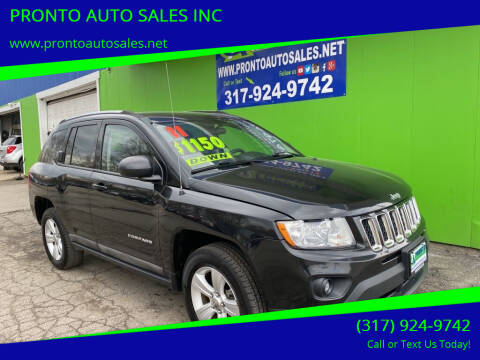 2011 Jeep Compass for sale at PRONTO AUTO SALES INC in Indianapolis IN