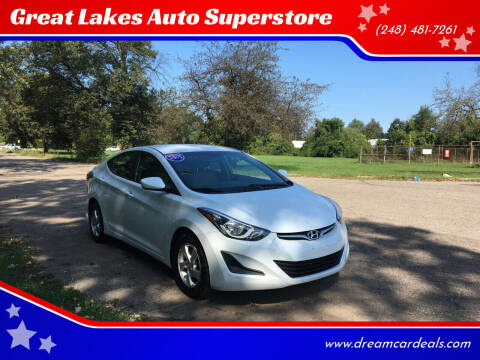 2015 Hyundai Elantra for sale at Great Lakes Auto Superstore in Pontiac MI