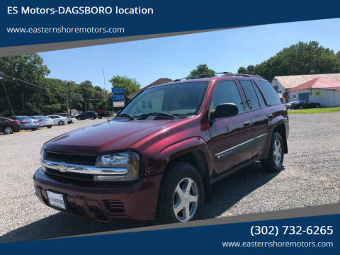2004 Chevrolet TrailBlazer for sale at ES Motors-DAGSBORO location in Dagsboro DE