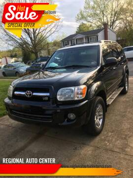 2005 Toyota Sequoia for sale at REGIONAL AUTO CENTER in Stafford VA