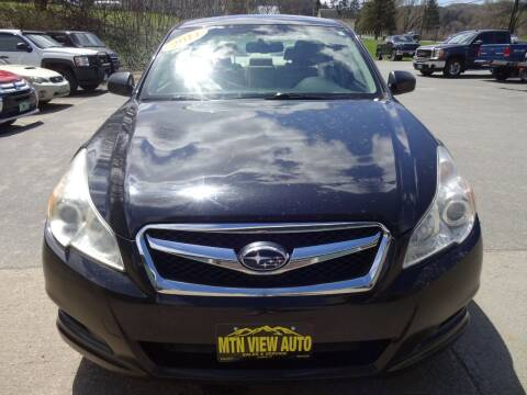 2011 Subaru Legacy for sale at MOUNTAIN VIEW AUTO in Lyndonville VT