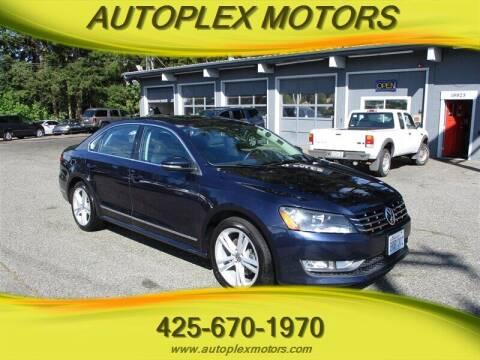 2012 Volkswagen Passat for sale at Autoplex Motors in Lynnwood WA