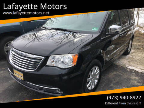 2012 Chrysler Town and Country for sale at Lafayette Motors in Lafayette NJ