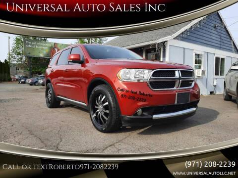 2011 Dodge Durango for sale at Universal Auto Sales Inc in Salem OR