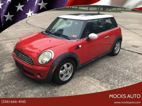 2010 MINI Cooper for sale at Mocks Auto in Kernersville NC