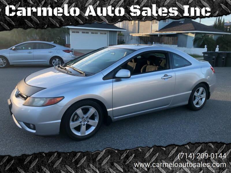 2006 Honda Civic for sale at Carmelo Auto Sales Inc in Orange CA