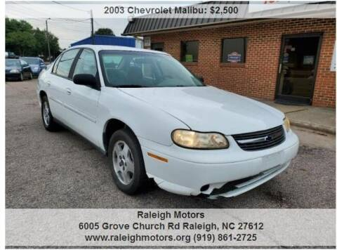 2003 Chevrolet Malibu for sale at Raleigh Motors in Raleigh NC