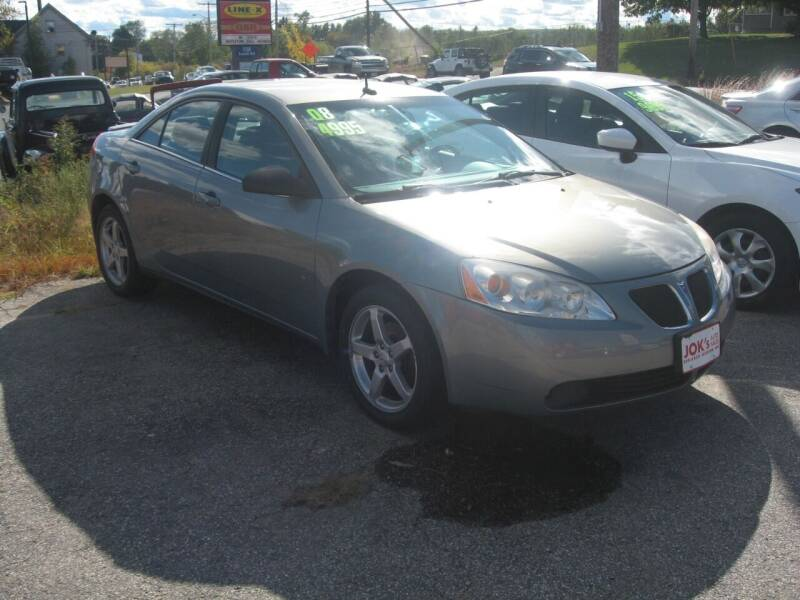 2008 Pontiac G6 for sale at Joks Auto Sales & SVC INC in Hudson NH