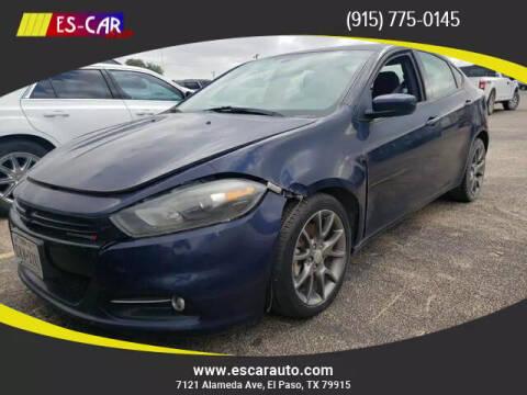 2014 Dodge Dart for sale at Escar Auto in El Paso TX