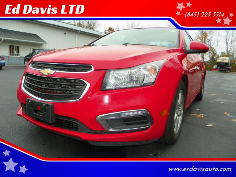 2015 Chevrolet Cruze for sale at Ed Davis LTD in Poughquag NY