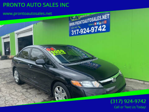 2008 Honda Civic for sale at PRONTO AUTO SALES INC in Indianapolis IN