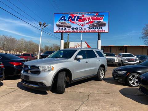 2011 Dodge Durango for sale at ANF AUTO FINANCE in Houston TX