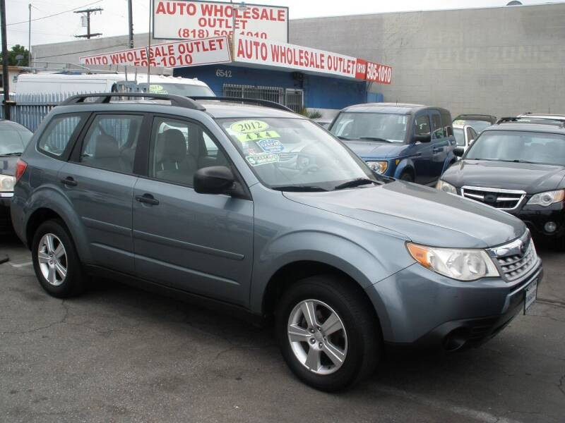 2012 Subaru Forester for sale at AUTO WHOLESALE OUTLET in North Hollywood CA