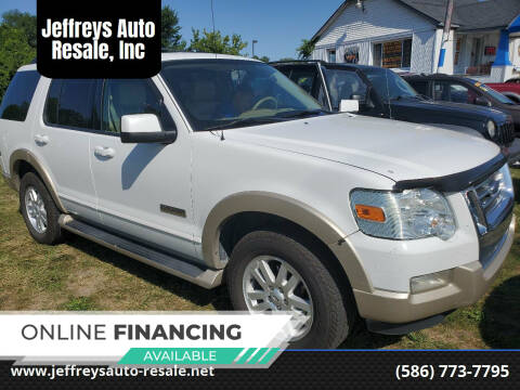 2007 Ford Explorer for sale at Jeffreys Auto Resale, Inc in Clinton Township MI