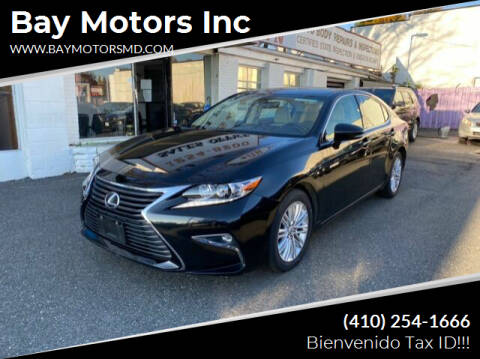 2016 Lexus ES 350 for sale at Bay Motors Inc in Baltimore MD