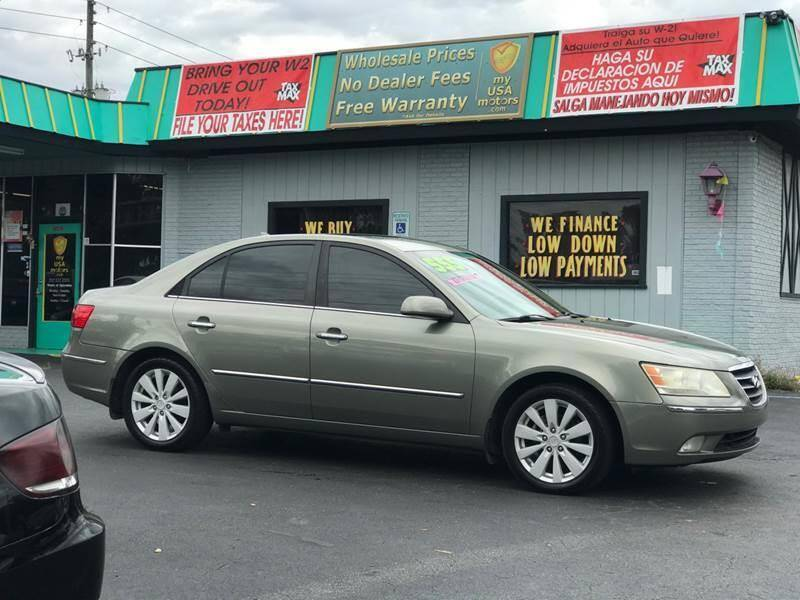 2009 Hyundai Sonata for sale at my USA motors - (Bad Credit? MYBUYHEREPAYHERE.com) in Brooksville FL