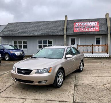 2006 Hyundai Sonata for sale at Stephen Motor Sales LLC in Caldwell OH