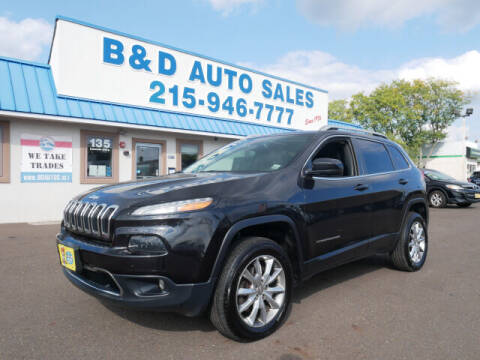 2014 Jeep Cherokee for sale at B & D Auto Sales Inc. in Fairless Hills PA