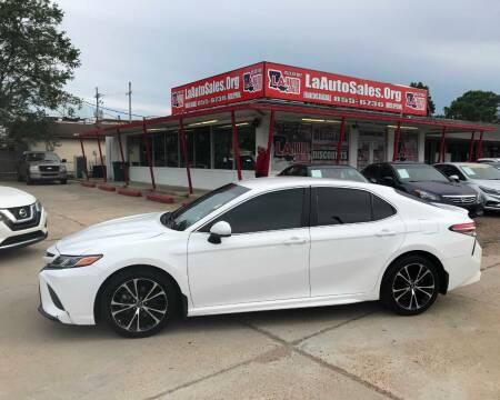 2018 Toyota Camry for sale at LA Auto Sales in Monroe LA