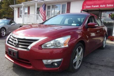 2013 Nissan Altima for sale at Dave Franek Automotive in Wantage NJ