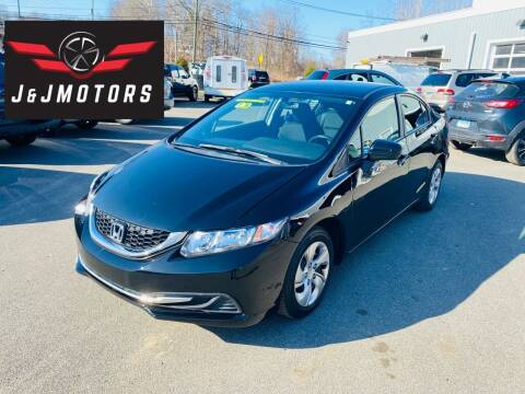 2015 Honda Civic for sale at J & J MOTORS in New Milford CT