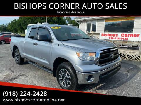 2012 Toyota Tundra for sale at BISHOPS CORNER AUTO SALES in Sapulpa OK