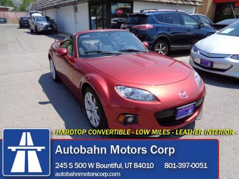 2015 Mazda MX-5 Miata for sale at Autobahn Motors Corp in Bountiful UT