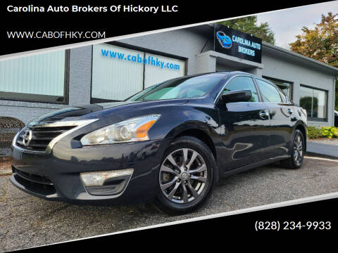 2015 Nissan Altima for sale at Carolina Auto Brokers of Hickory LLC in Newton NC