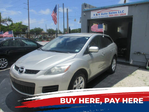 2008 Mazda CX-7 for sale at K & V AUTO SALES LLC in Hollywood FL