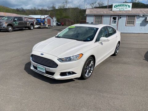 2016 Ford Fusion for sale at Greens Auto Mart Inc. in Wysox PA