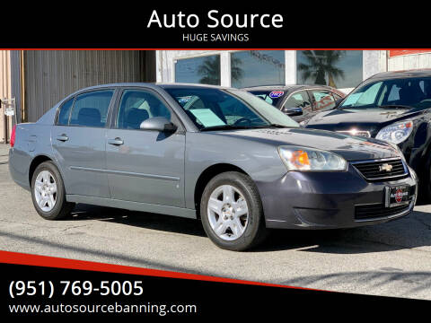 2007 Chevrolet Malibu for sale at Auto Source in Banning CA