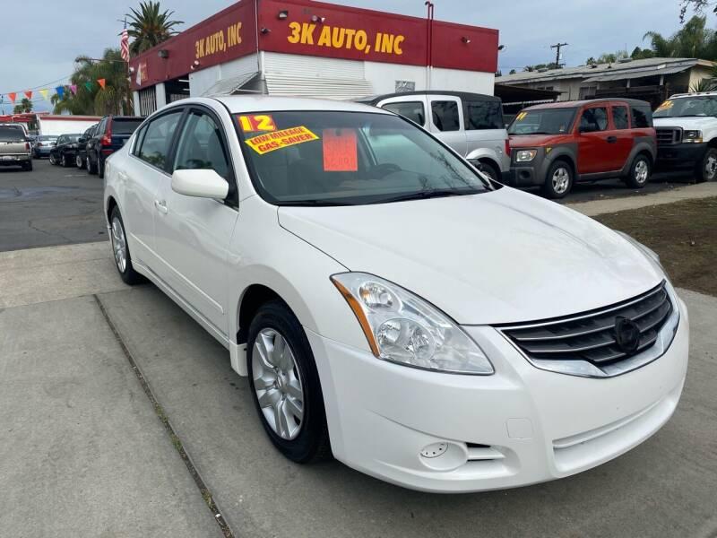 2012 Nissan Altima for sale at 3K Auto in Escondido CA