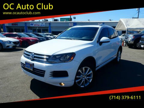 2013 Volkswagen Touareg for sale at OC Auto Club in Midway City CA
