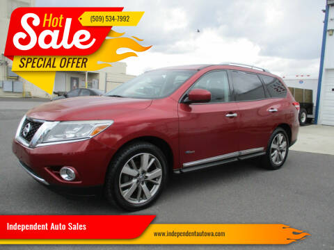 2014 Nissan Pathfinder Hybrid for sale at Independent Auto Sales in Spokane Valley WA