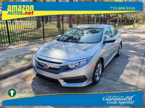 2017 Honda Civic for sale at Amazon Autos in Houston TX
